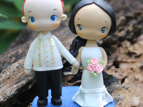 Picture of Barong Philippine Wedding Cake Topper