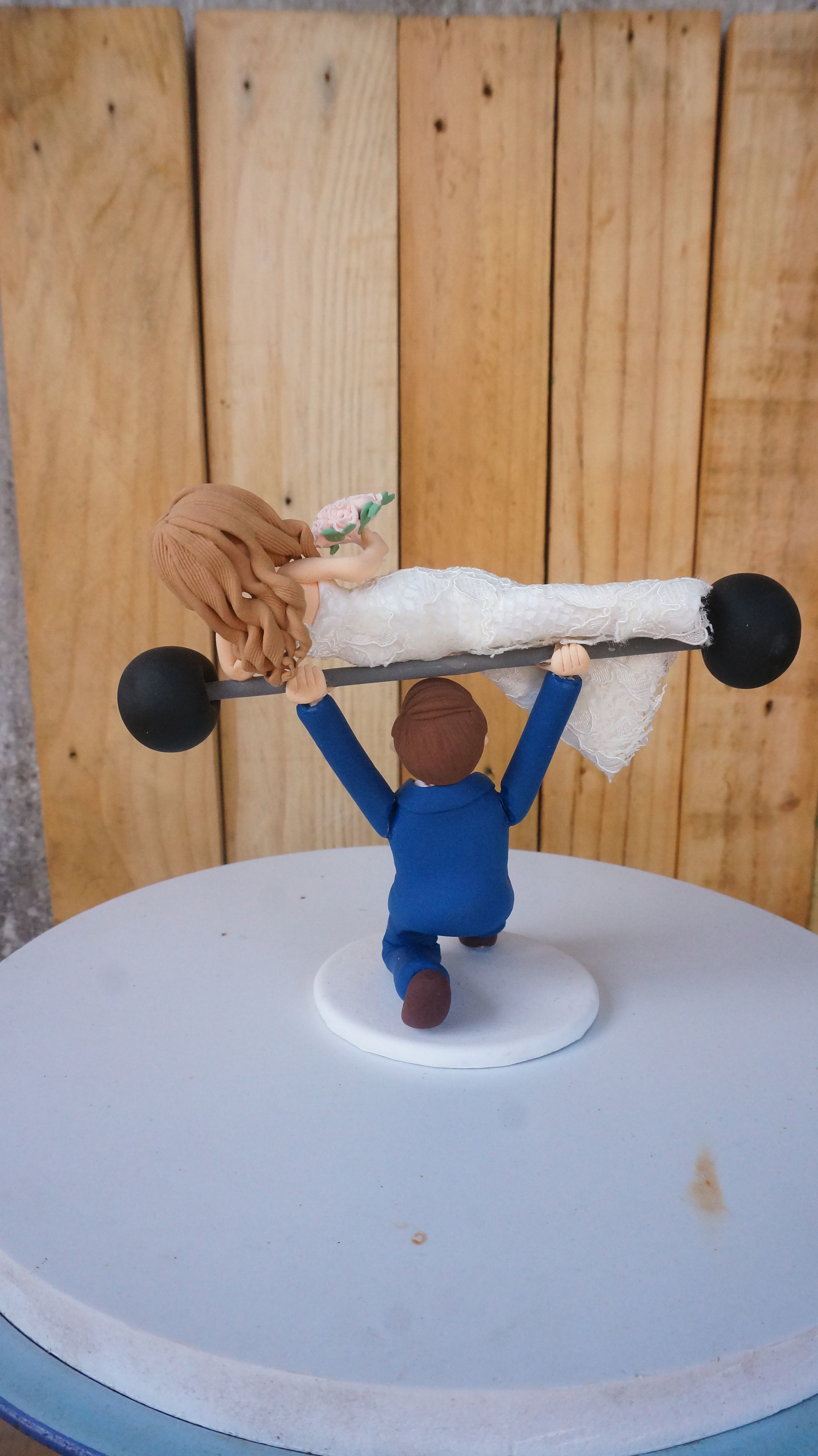 Picture of Weightlighting Wedding Cake Topper