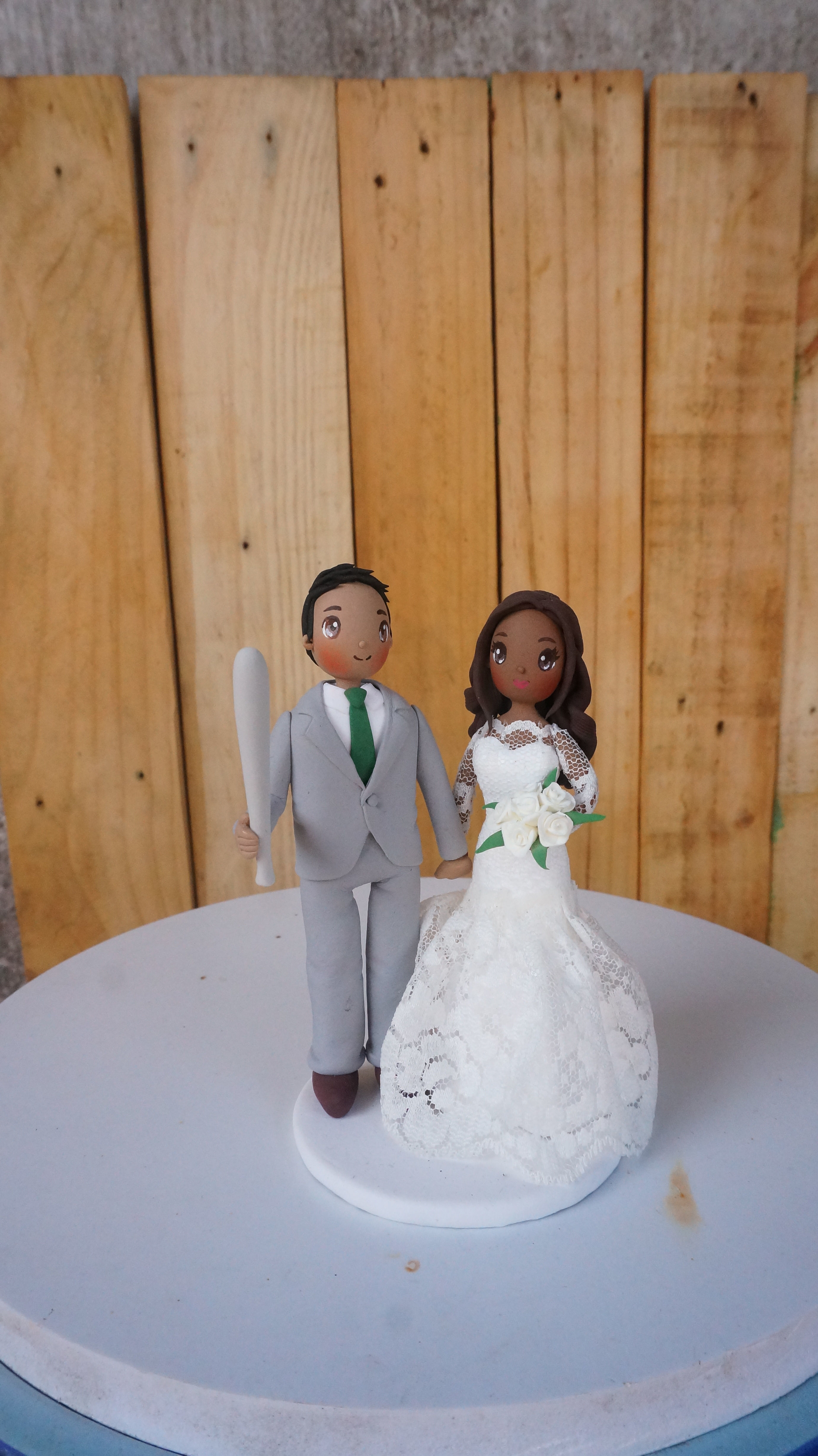 Picture of Fancy Dress Wedding Cake Topper