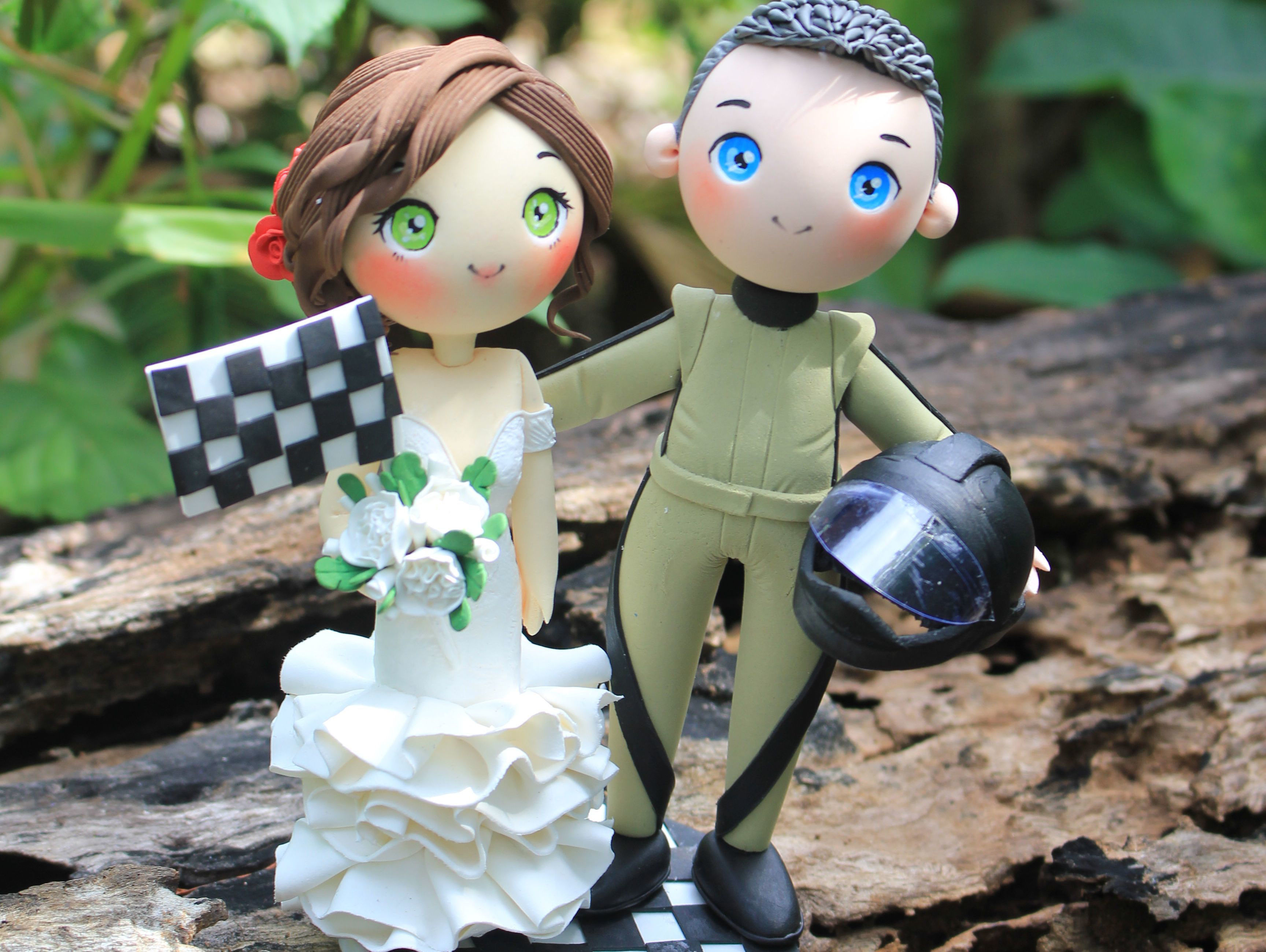 Picture of F1 Racer Wedding Cake Topper