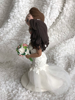 Picture of Mermaid wedding dress clay miniature, Wedding cake topper