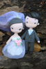 Picture of Baby pink wedding cake topper