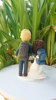 Picture of Wedding cake topper with dog clay doll