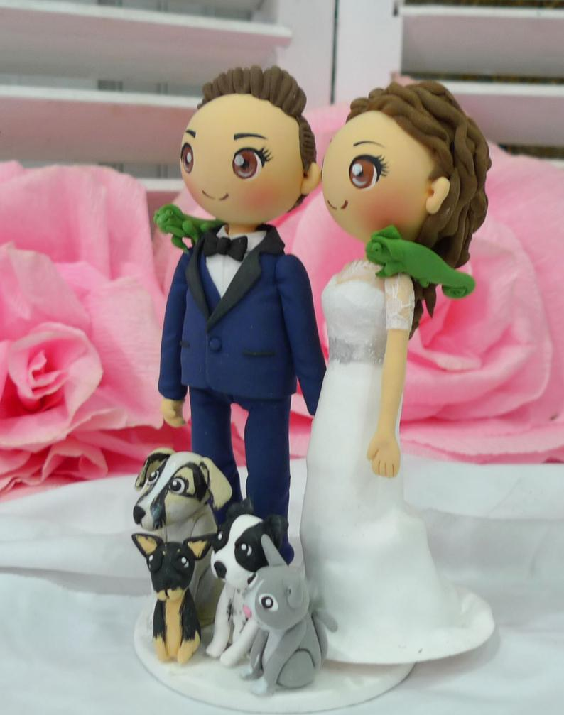Picture of Wedding cake topper, Lesbian wedding cake topper